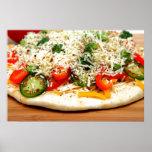 Pizza gastrónoma del Veggie Impresiones