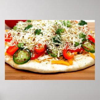 Pizza gastrónoma del Veggie Póster