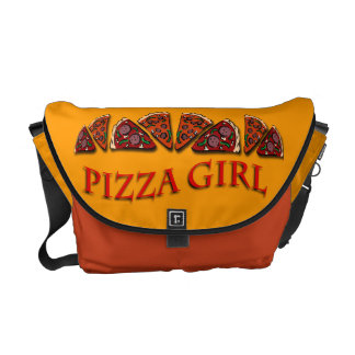 Pizza Girl Courier Bags