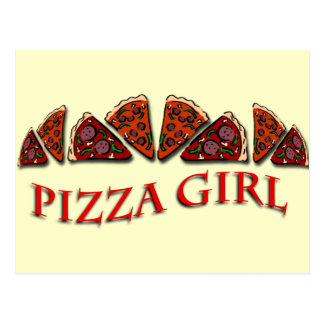 Pizza Girl Postcard