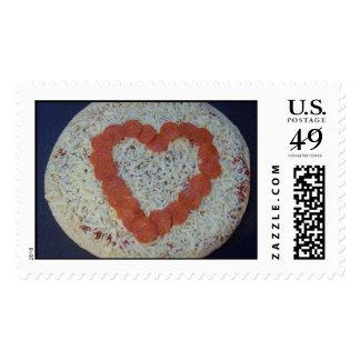 pizza grande del corazón sello