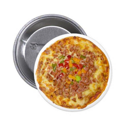Pizza hawaiana pin redondo de 2 pulgadas