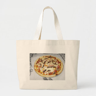 Pizza hecha en casa bolsa tela grande