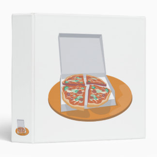 pizza in delivery box 3 ring binder