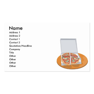 pizza in delivery box business card