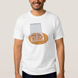 pizza in delivery box shirt