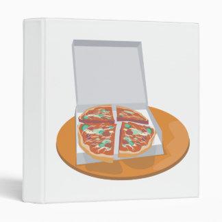 pizza in delivery box vinyl binders
