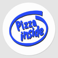 Pizza inside stickers