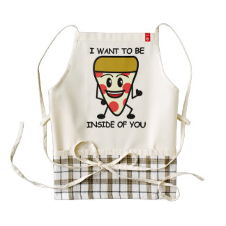 Pizza Inside You Zazzle HEART Apron