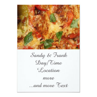 Pizza Invitación 12,7 X 17,8 Cm