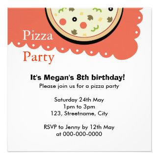 Pizza Custom Invitations