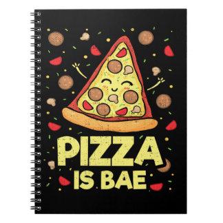 Pizza Is Bae - Cute Kawaii Funny Cartoon - Novelty Notebook