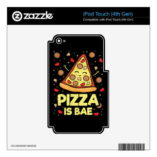 Pizza Is Bae - Funny Cartoon - Novelty Decal For iPod Touch 4G