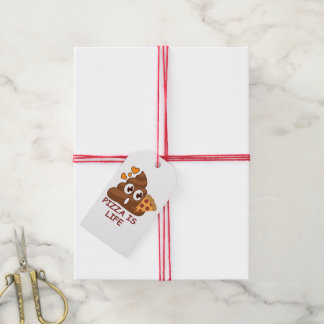 Pizza Is Life Emoji Gift Tags
