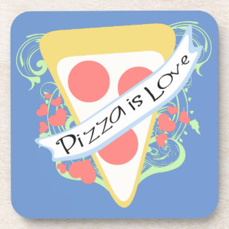 Pizza is Love Drink Coaster