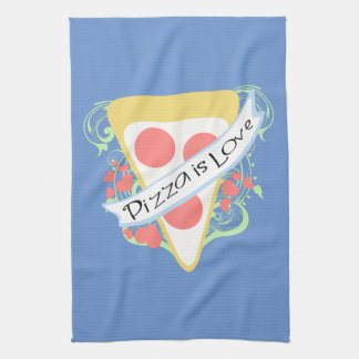 Pizza is Love Kitchen Towels