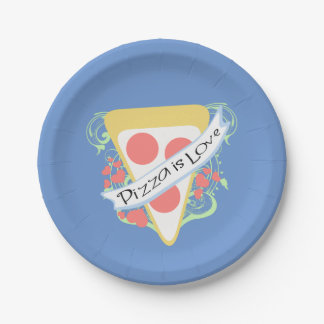Pizza is Love Paper Plate