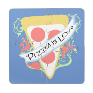 Pizza is Love Puzzle Coaster