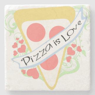 Pizza is Love Stone Coaster
