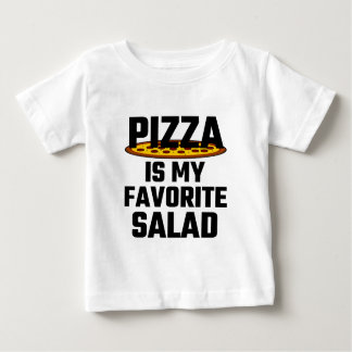Pizza Is My Favorite Salad Baby T-Shirt