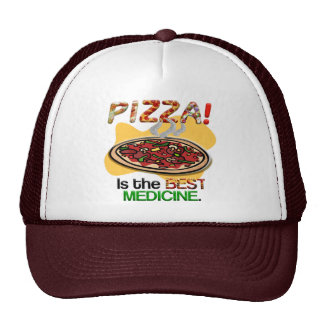 Pizza is the Best Medicine Trucker Hat