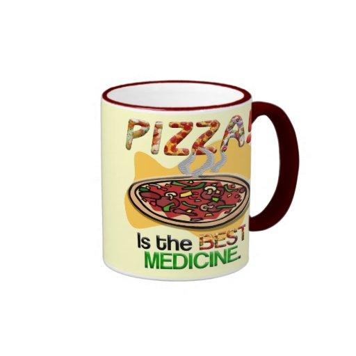 Pizza is the Best Medicine Ringer Coffee Mug