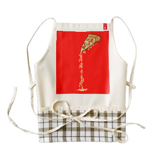 Pizza is the best zazzle HEART apron
