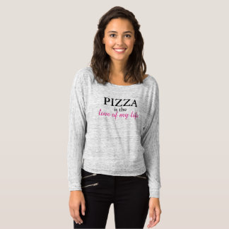 PIZZA is the love of my life Gray Sweatshirt