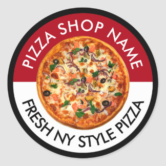 Pizza Italian Restaurant Theme Sticker Labels