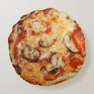 Pizza Italian Theme Round Pillow