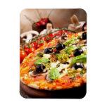 Pizza italiana fresca imán