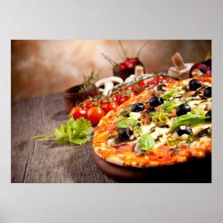 Pizza italiana fresca impresiones