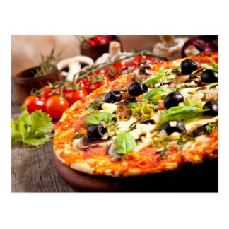 Pizza italiana fresca postales