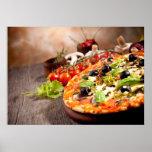Pizza italiana fresca póster