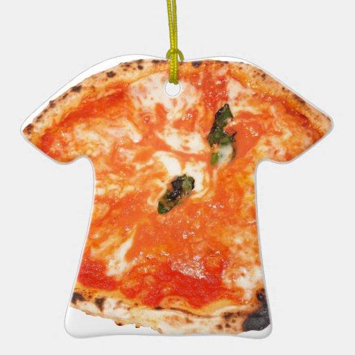 Pizza italiana Margherita Adorno De Navidad