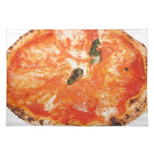 Pizza italiana Margherita Manteles