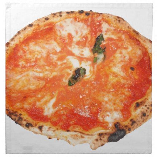 Pizza italiana Margherita Servilleta Imprimida