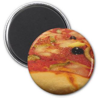 Pizza italiana original imán redondo 5 cm