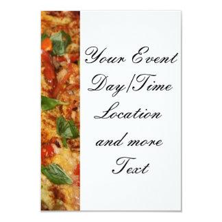 """pizza.jpg 3.5"""" x 5"""" invitation card"""