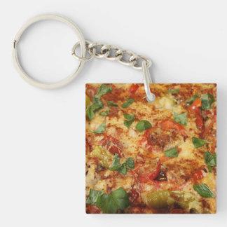 pizza.jpg llavero cuadrado acrílico a doble cara