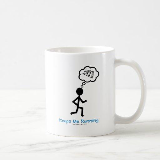 Pizza - Keeps Me Running Classic White Coffee Mug