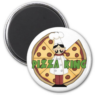 Pizza King Pizza Gift 2 Inch Round Magnet