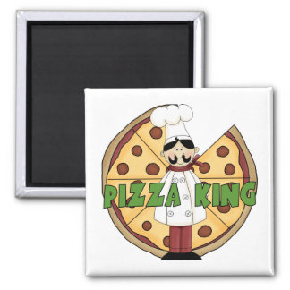 Pizza King Pizza Gift 2 Inch Square Magnet
