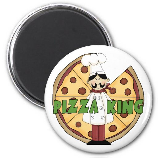 Pizza King Pizza Gift Refrigerator Magnets