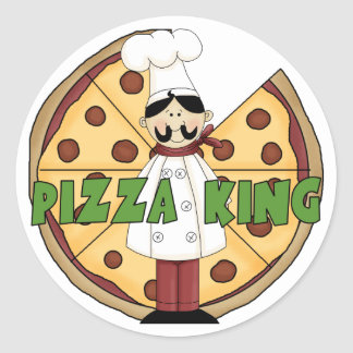 Pizza King Pizza Stickers