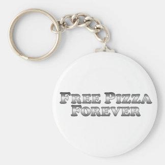 Pizza libre para siempre - básica llavero personalizado
