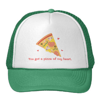 Pizza linda de mi humor del amor del retruécano gorra