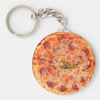 Pizza Llavero Redondo Tipo Pin