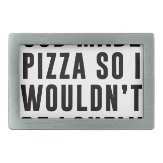 Pizza Lonely Rectangular Belt Buckle
