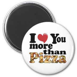 Pizza Love 2 Inch Round Magnet